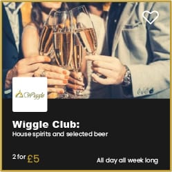 Wiggle Bournemouth 2 Drinks £5