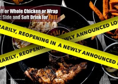 Charcoal Chicken Company: Free Classic Side & Soft Drink (see more…)