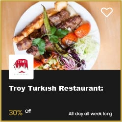 Troy Turkish Restaurant Bournemouth 30% Off
