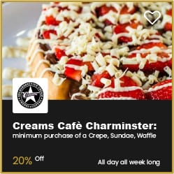 Creams Cafe Charminster 20% Off