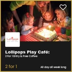 Lollipops Play Cafe Bournemouth 2 for 1 Entry and Free Coffee