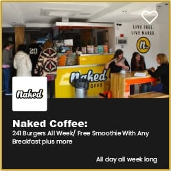 Naked Bournemouth Free Smoothy with any Breakfast