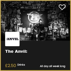 The Anvil Bournemouth £2.50 Drinks