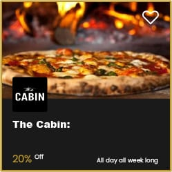 The Cabin Bournemouth 20% Off