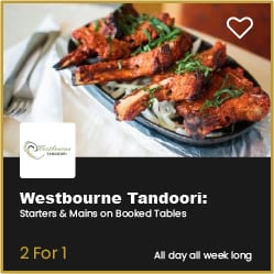 Westbourne Tandoori 2 for 1 Starters and Mains