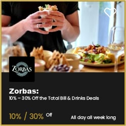 Zorbas Bournemouth Up to 30% Off