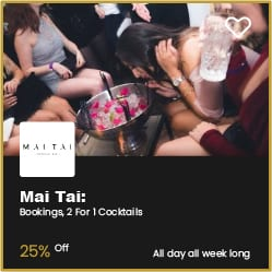 Mai Tai Bournemouth 2 for 1 Cocktails and 25% Off