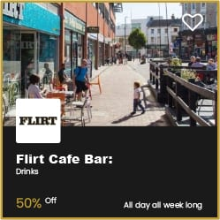 Flirt Cafe Bar Bouremouth 50% Off Drinks