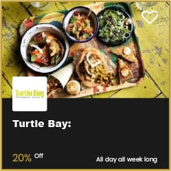 Turtle Bay Bournemouth 20% Off