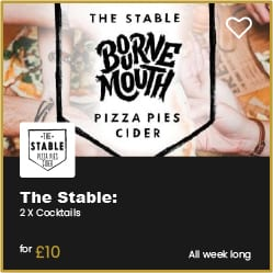 The Stable Bournemouh 2 for £10 Cocktails
