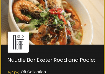 Nuudle Bar Lansdowne: 50% Off Collection/ Eating In