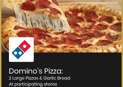 Domino's Pizza: 2 Large Pizzas & Garlic Bread for £17.98 (see more…)