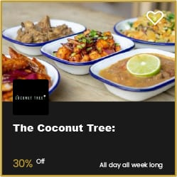 The Coconut Tree Bournemouth 30% Off