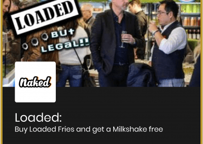 Loaded: Buy Loaded Fries and get a Milkshake free all day all week
