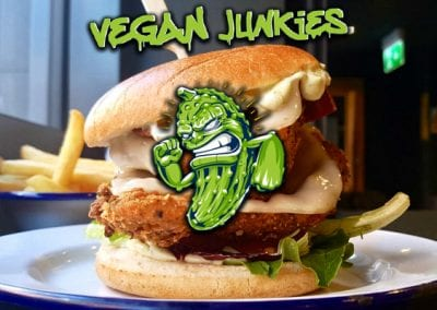 Vegan Junkies: 241 on burgers all day all week.